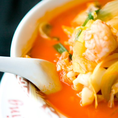 House Soup Noodles Vegetable, Seafood & meat